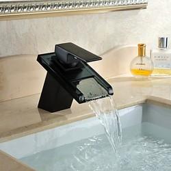 Antique ORB Finish Waterfall Centerset Glass Bathroom Sink Faucet – FaucetSuperDeal.com