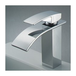Chrome Finish Single Handle Waterfall Bathroom Sink Faucet – FaucetSuperDeal.com