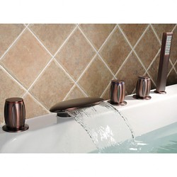 Oil-rubbed Bronze Waterfall Tub Faucet At FaucetsDeal.com