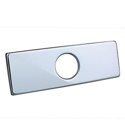4″ Polished Chrome Sink Hole rectangular Cover Deck Plate(0572 – 370) – Faucet ...
