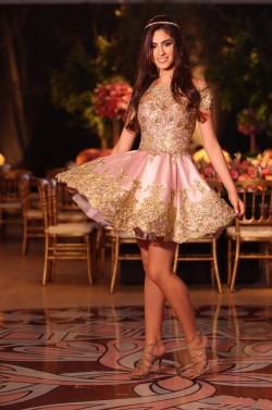 Rosa Partykleider Cocktailkleider Kurz Mit Spitze A Linie Mini Abendkleider