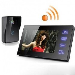 Wireless 7″ Video Door Phone Intercom Doorbell