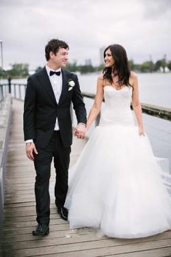 Adorable Ivory Strapless Floor-length Sleeveless A-line/Princess Wedding Dresses – by OKDr ...