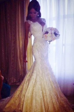 Alluring White Trumpet/Mermaid Tulle Natural Sweetheart Wedding Dresses – by OKDress UK