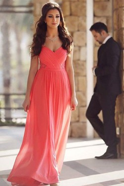 Enthusiastic Zipper Natural Sweetheart Sleeveless Prom Dresses – by OKDress UK