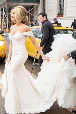Remarkable Trumpet/Mermaid Ivory Sleeveless Natural Zipper Wedding Dresses – by OKDress UK