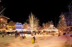 Christmas Lighting Festival Leavenworth Washington USA.