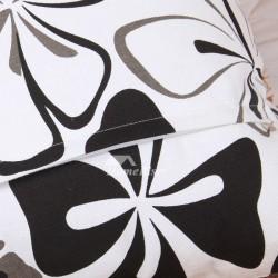Square Cotton Black And White Throw Pillows