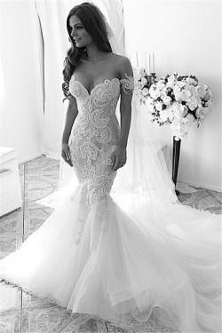 Gorgeous Applique Tulle Wedding Dresses – by OKDress UK