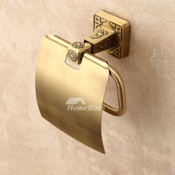 Polished Brass Wall Mounted Toilet Paper Holder