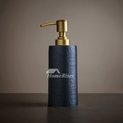 Gold & Black Bathroom Liquid Soap Dispenser