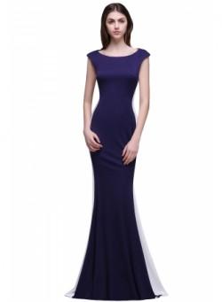 Mermaid Zipper Elegant Short-Sleeves Floor-Length Prom Dresses – Ameliedresses
