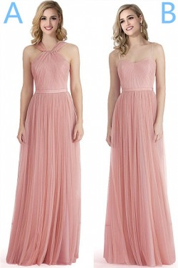 Sleeveless Floor-length Chiffon Zipper A-line Bridesmaid Dresses – by OKDress South Africa