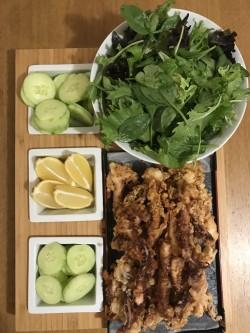 Calamari + salad 🐙🦑