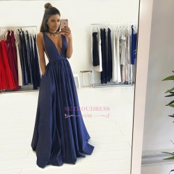 Floor Length Sleeveless Long Evening Gowns Formal 2017 Gorgeous V-Neck Prom Dress BA4950_Dresses ...