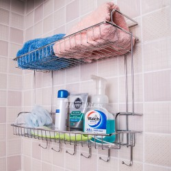 What are the advantages in installing the Bathroom Shelf With Hooks? | Cairns Bond: Home