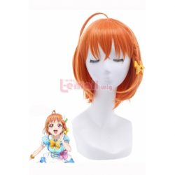 LoveLive!Sunshine!! Takami Chika Short Orange Cosplay Wigs – L-email Cosplay Wig