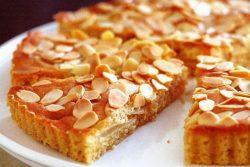 Pear almond flan
