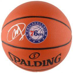 Autographed Philadelphia 76ers Joel Embiid Fanatics Authentic Spalding Logo Basketball
