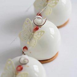 White snow balls dessert