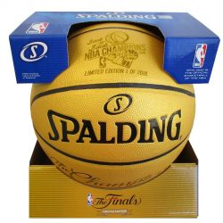 Golden State Warriors Fanatics Authentic 2018 NBA Finals Champions Spalding Gold Laser Engraved  ...