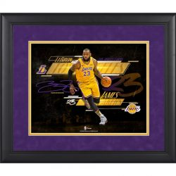 Los Angeles Lakers LeBron James Fanatics Authentic Framed 11″ x 14″ Spotlight Photog ...