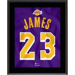 Los Angeles Lakers LeBron James Fanatics Authentic 10.5″ x 13″ Gold 2018-19 Jersey S ...