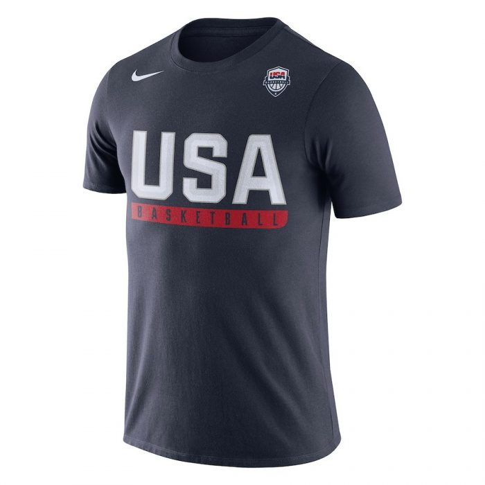 Men's USA Basketball Nike Navy Practice Dri-FIT T-Shirt
