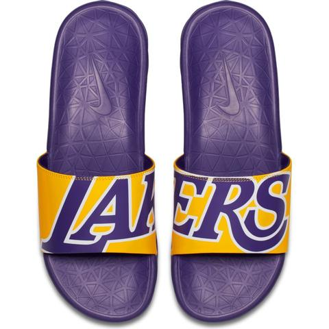 Nike Benassi Solarsoft Slide – Lakers – Kickz101