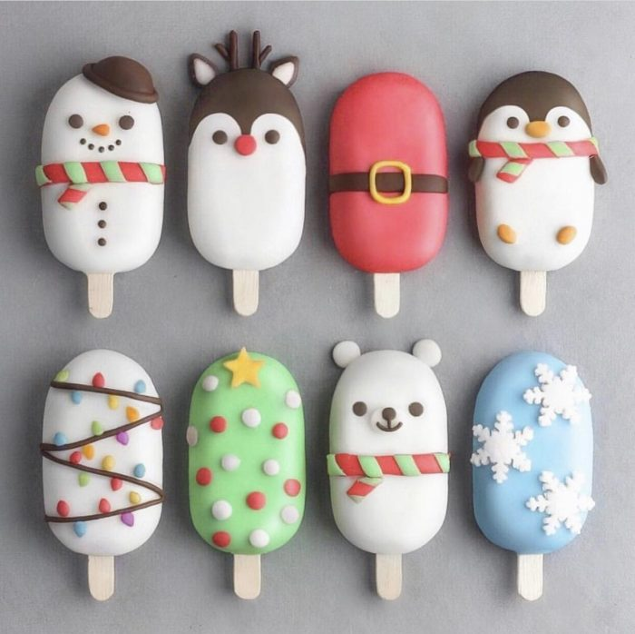 Cute ice-cream sticks- Christmas