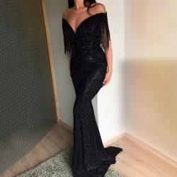 Elegante Abendkleider Schwarz Lang | Abiballkleider Günstig Online