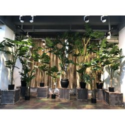 Realistic Artificial Monstera Plant