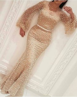 Elegante Abendkleid Mit Ärmel | Abiballkleider Lang Günstig