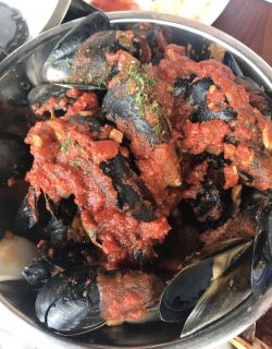 Chilli mussels at Kailis Freo