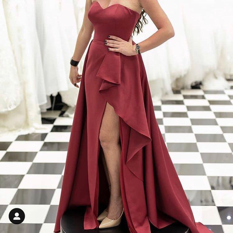 Elegante Abendkleider Lang Günstig | Rotes Abendkleid ...