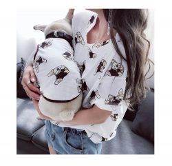 Matching Dog And Owner T-shirts Parent-Pets Clothes