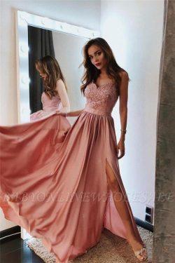 Elegante Abendkleid Rosa | Designer Abendkleider Lang Günstig