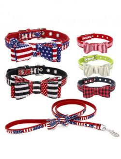 Dog Cat Bowtie Collar Soft Comfortable Adjustable Collar