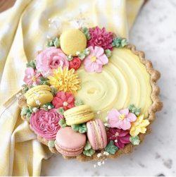 Lemon tart & macarons