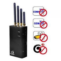 4 antennes portables GSM 3G bande brouilleur de téléphone portable