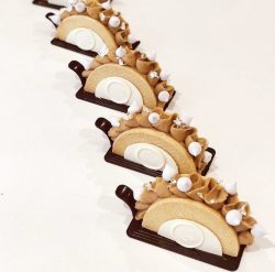 Hazelnut Swiss roll