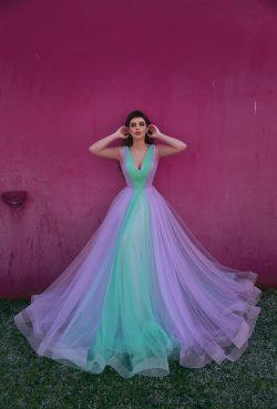 Designer Abendkleider Lang V Ausschnitt   Abendmoden Online Kaufen