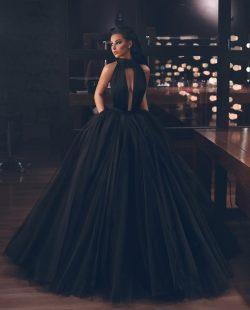 Fashion Schwarz Abendkleider Lang Günstig   Abendmoden Bodenlang Online