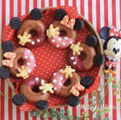 Mickey & Minnie donuts. So cute