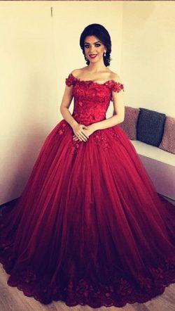 Designer Rote Abendkleider Prinzessin   Abendmoden Online Kaufen