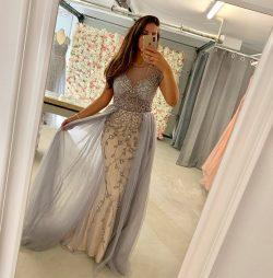 Designer Abendkleider Silber   Abendmoden mit Spitze Online